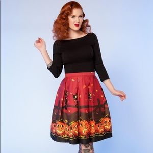 Cats and Lanterns Spooky Skirt!